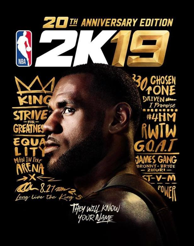 f51eb5a4d2d LEBRON JAMES NAMED COVER ATHLETE FOR NBA2K19 20TH ANNIVERSARY EDITION